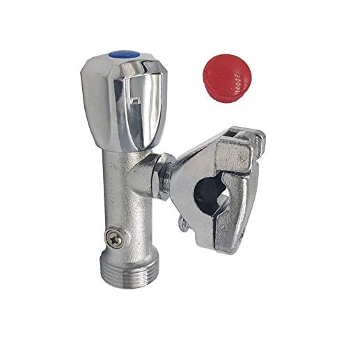 Aumix 1 válvula de parada para lavadora/lavavajillas de 15 mm x 1 pulgada.