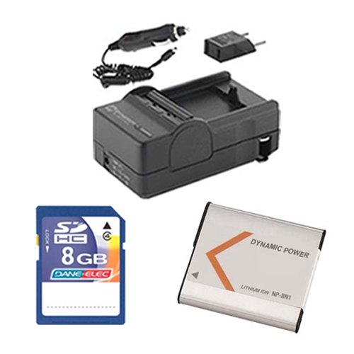 Sony Cyber-Shot DSC-WX80 Digital Camera Accessory Kit Includes: SDNPBN1 Battery, SDM-1515 Charger, KSD48GB Memory Card