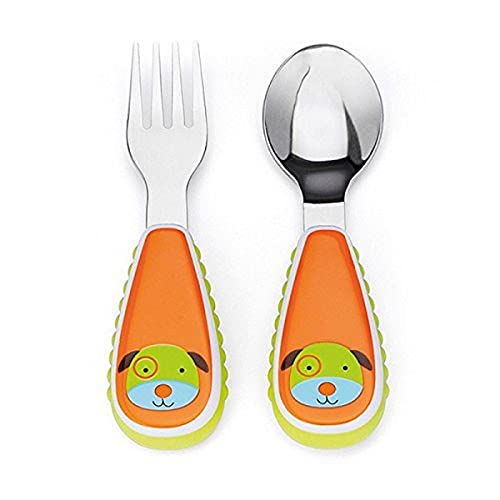 Skip Hop Zoo - Cubiertos, diseño dog, color naranja