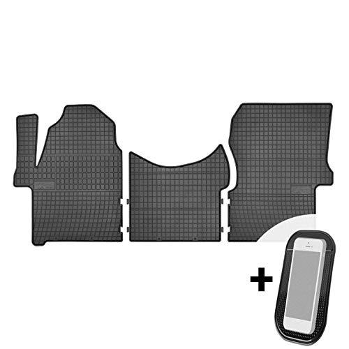 Gummimatten Auto Fußmatten Gummi Automatten Passgenau 3-teilig Set - passend für VW Crafter 1 Mercedes Sprinter 2 W906 2006-2018