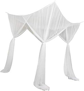 Homyl 4 Corner Post Bed Canopy Net Bedroom Hanging Bed Valance - White, 210x190x24cm