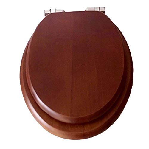 WLALLSS Asiento Inodoro Trabajo Pesado WC Sitz Tapa Tapa Inodoro con bisagra Cierre Lento Suave Madera baño (Color: # 3)