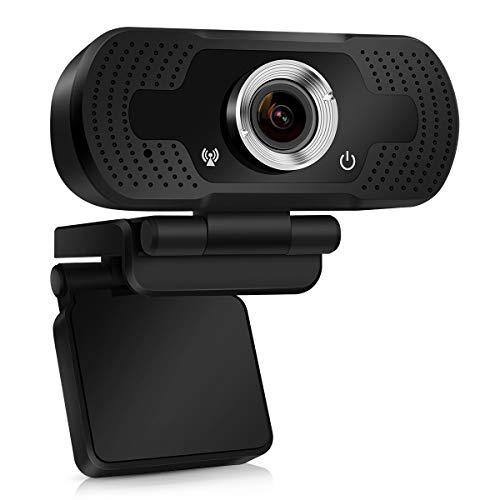 TMEZON Webcam 1080P, cámara Web USB, cámara de computadora HD para Skype, FaceTime, Hangouts, PC/Mac/Laptop/MacBook/Tablet con micrófono Incorporado,Enfoque Automático y Reducción de Ruido