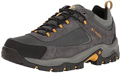 Columbia Men's Granite Ridge Waterproof Hiking Shoe, Dark Grey, Golden Yellow, 10 D US