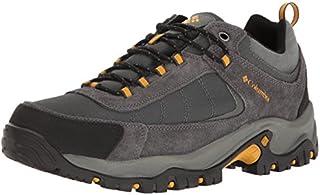 Columbia Men's Granite Ridge Waterproof Hiking Shoe, Dark Grey, Golden Yellow, 9.5 D US