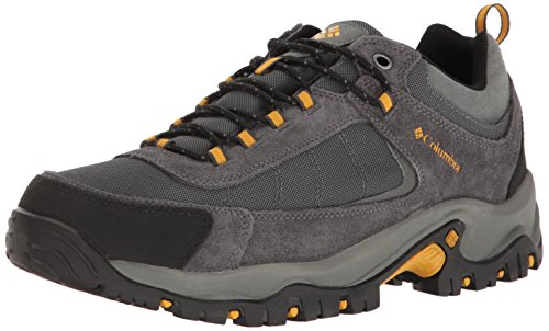 Columbia Men's Granite Ridge Waterproof Hiking Shoe, Dark Grey, Golden Yellow, 11
