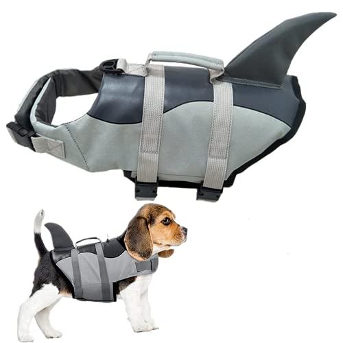 Gilet de sauvetage pour chien - Motif requin - Taille M