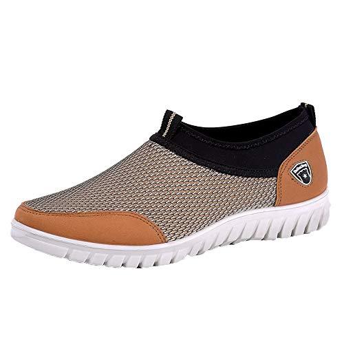 GongzhuMM Léger Chaussures de Sport Homme Sneakers Mesh Respirant Chaussures Confortables Mocassins Espadrilles pour Hommes 39-45 EU