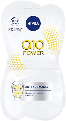 NIVEA Q10 POWER Anti-Falten Gesichtsmaske im 1er Pack (1 x 15 ml), straffende Hautpflege Maske, Gesichtspflege für jünger aussehende Haut