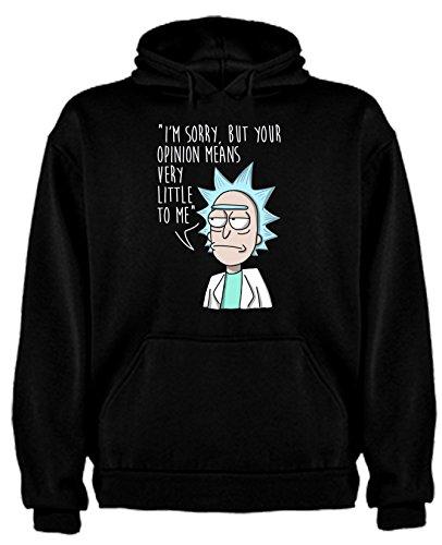 Sudadera de Hombre Rick and Morty Divertida Friky Smith Tiny L