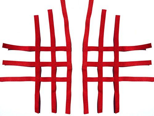Nerfbar Netz Quad ATV rot 3 & 3 Bänder Ersatzteil für/kompatibel mit YFM700R u.a.
