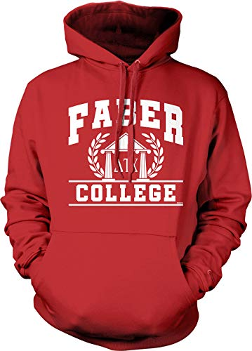 NOFO Clothing Co Faber College, Delta Tau Chi Hooded Sweatshirt, XXL Red