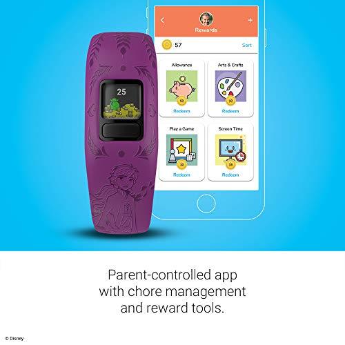 Garmin vívofit Jr 2, Kids Fitness/Activity Tracker, 1-Year Battery Life, Adjustable Band, Disney Frozen 2, Anna, Purple 2