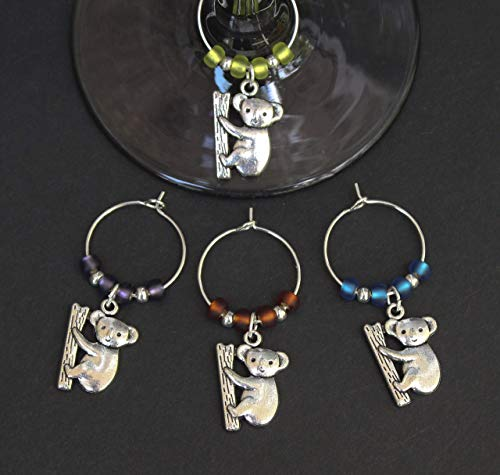 Koala Wine Glass Charms-Set of 4-KOALA002-4