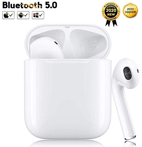 Kopfhörer Kabellos Kopfhörer Bluetooth 5.0 Noise Cancelling Kopfhörer für immersiven Klang mit 24H Ladekästchen und Mikrofon Kopfhörer für Android/iPhone/Samsung in Ear Kopfhörer Kopfhörer iPhone