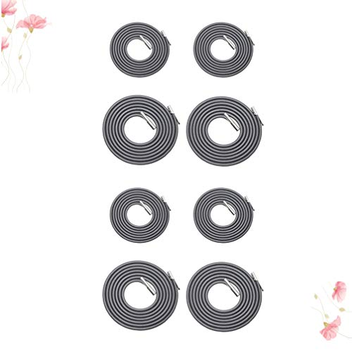 Garneck 8pcs Chair Replacement Cords, Deck Chair Rope, Deck Chair Accessories Chaise Longue Rope Chaise Elastic Rope Recliner Parts(Black)