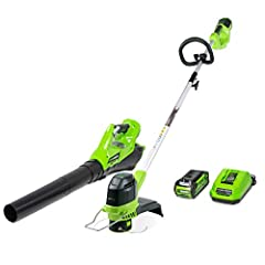 Up to 45 minutes of run time with fully charged 2.0Ah Battery, Battery and charger included The innovative axial fan design delivers 110 mph and 390 CFM to handle tough clearing jobs Light weight and easy to use 40V 2Ah Li-Ion Battery and charger inc...