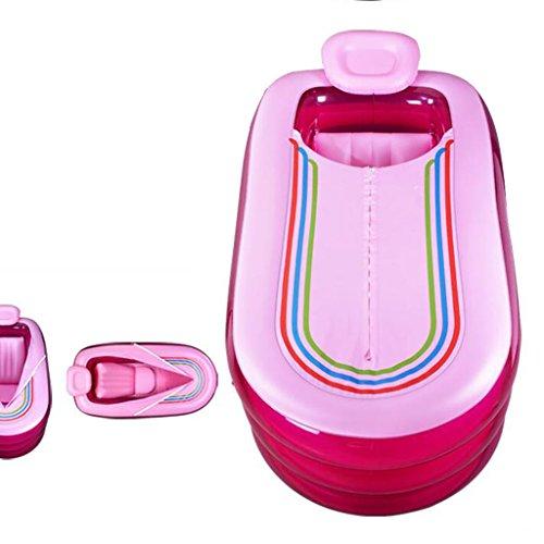 ZY YZ Aufblasbare Badewanne Adult Verdickung Badewanne Faltbare Badewanne Duschbad (Farbe : Pink)