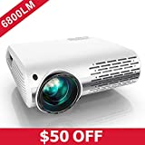 YABER Native 1080P Projector 6800 Lux Upgrade Full HD Video Projector 1920 x 1080, ±50° 4D Keystone Correction Support...