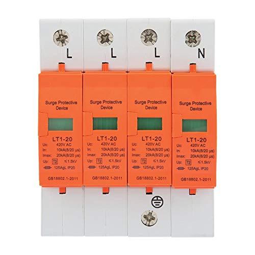 4P 20KA 420VAC Haus-Überspannungsschutz-Niederspannungs-Ableiter