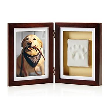 Pearhead Dog or Cat Paw Print Pet Keepsake Photo Frame With Pet Pawprint Imprint Kit
