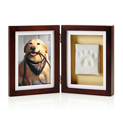 Pearhead Bilderrahmen mit Hunde- oder Katzenpfotenabdruck, mit Tonabdruck-Kit, Perfekter Andenkenrahmen für Tierliebhaber