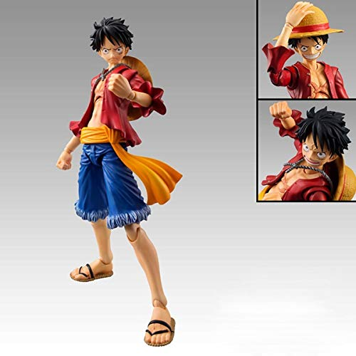 Xungzl ONE Piece Monkey D. Luffy Movable Interchangeable Head PVC Anime Cartoon Game Character Model Statue Figure Toy Collectibles Decorations Gifts Favorite by Anime Fan