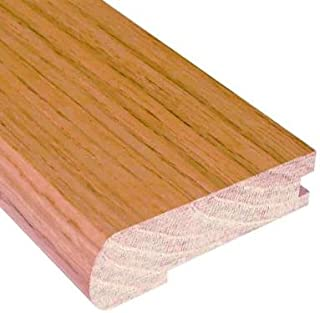 Unfinished Oak 3/4 in. Thick x 3 in. Wide x 78 in. Length Hardwood Stair Nose Molding