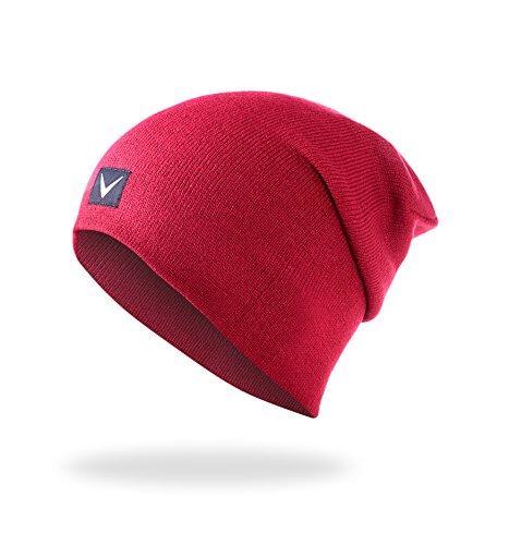 Black Crevice Bonnet Unisexe. Taille Unique Rouge