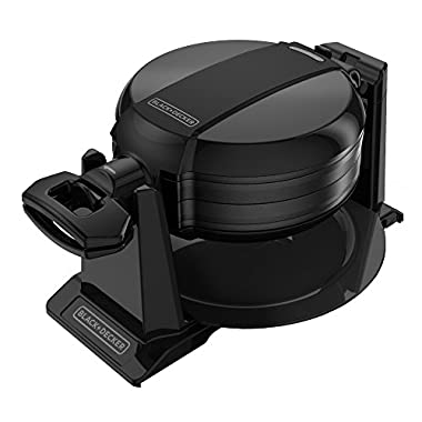 BLACK+DECKER Rotating Waffle Maker, Black, WMD200B
