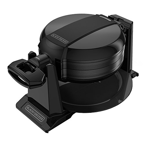 BLACKDECKER Rotating Waffle Maker Black WMD200B