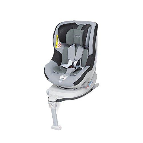 Foppapedretti Rolling Fix Seggiolino Auto Gruppo 0+/1 (0-18 Kg) per Bambini dalla Nascita Fino a 4 Anni Circa, Grafite