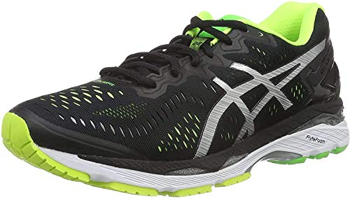 ASICS Gel-Kayano 23, Scarpe da Corsa Uomo, Multicolore (Black/Silver/Safety Yellow), 43 1/2 EU