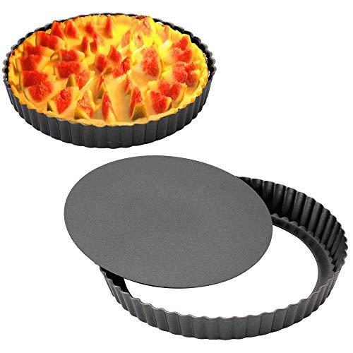 Gutsdoor Tart Pan 12 Inch with Removable Bottom Quiche Pan Nonstick Round Pie Pans for Baking Kitchen