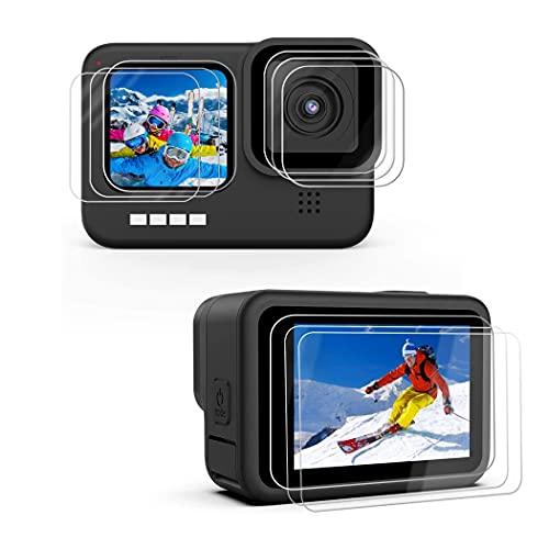 X-Dision [3 Stück Kompatibel mit GoPro Hero 9 Black Display Schutzfolie,2.5D Schutzfolie[9H Härte,Einfache Installation, Bruchsicher] Premium Zubehör Gehärtete Glasfolie