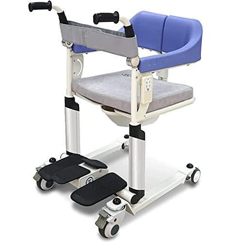 XJJY Behinderter, Älterer Älterer Kommoden-Badstuhl, Patienten-Transfer-Aufzug Multifunktionaler Roll-Duschstuhl, Alter Mann-Pfleger Rollstuhl, Multifunktions-Patientenlift,Mechanical Version