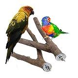 DEDC 2 Stück Vogelzweige Sitzstange aus natürlichem Holz für Papageien, Sittiche, Kakadus, Nymphensittiche, Sittiche, Kakadus.