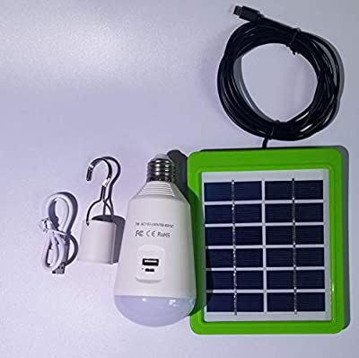 Solar Multi-Functional LED Bulb, Capable to Recharge Mobile Devices, Ideal for Power Outage, Tent Camping, Fishing, Camping, Portable,
