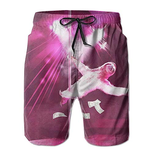 New Sexy Funny Pole Dancing Stripper Sloth Summer Suit Men's Beach Pants with Pockets