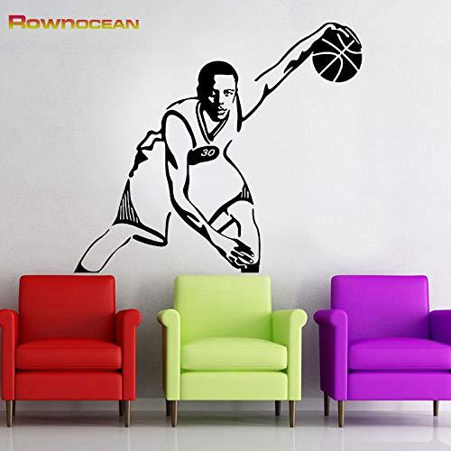 JXFM 76x67cm Benutzerdefinierte Größe und Farbe Stephen Basketball Star Superstar Wandaufkleber Home Decor Vinyl Aufkleber Wohnzimmer Sofa Hintergrund