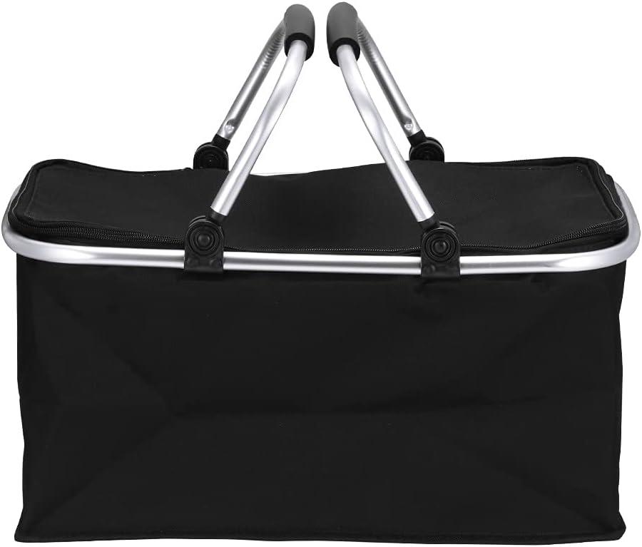 XUXUWA WH Convenient Shopping Max 59% OFF Bag Black Basket Folding Gorgeous