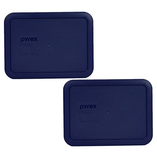 Pyrex 7210-PC Rectangle Dark Blue 3 Cup Storage Lid for Glass Dish (6, Dark Blue)