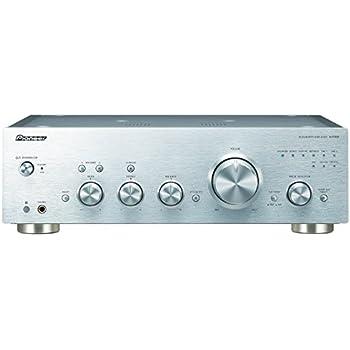 Pioneer A-70DA Stereo Vollverstärker (D/A Wandler, Leistung 2 x 90 Watt, Vorstufe komplett symmetrisch, USB, Analoger Phono MM/MC Eingang, hochwertige Aluminium Verarbeitung) Silber