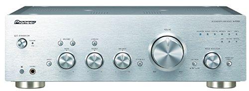 Pioneer A-70DA(S) Amplificatore Stereo Integrato (convertitore D/A, potenza 2 x 90 Watt, preamplificatore bilanciato, USB, ingresso analogico phono MM/MC), argento
