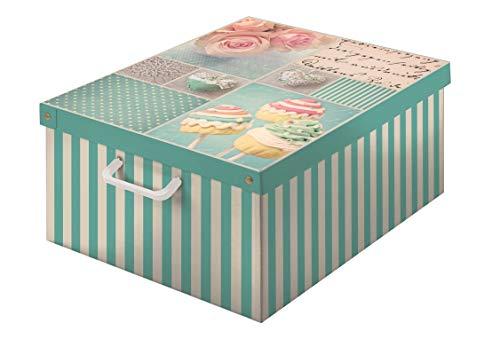 Kartonnen doos voor het opbergen van kleding, kleding, kledingkast, huishoudwasmand, ruimtebesparend, groot
