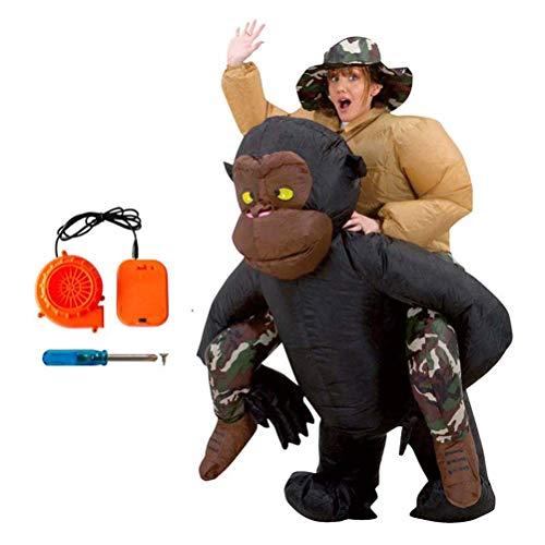 FUSKANG Aufblasbare Kleidung Schimpanse Zurück Mann Reiten Halloween Party Party Aufblasbare Kleidung Eltern-kind-aktivitäten King Kong Zurück Mann Leistung Requisiten Kleidung