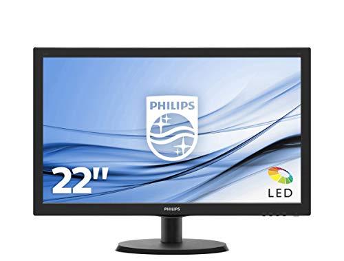 Philips 223V5LHSB2/00 54,6 cm (21,5 Zoll) Monitor (VGA, HDMI, TN Panel, 1920 x 1080, ohne Lautsprecher) schwarz