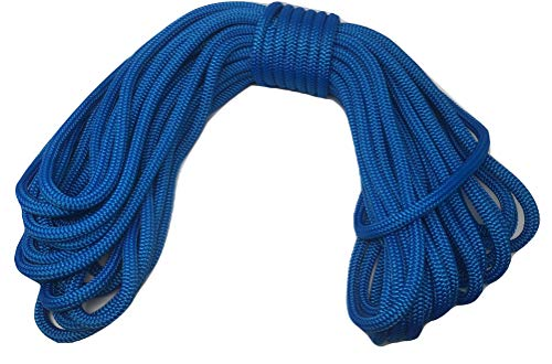 1/2 Inch by 100 Feet Blue Double Braid Nylon Rope