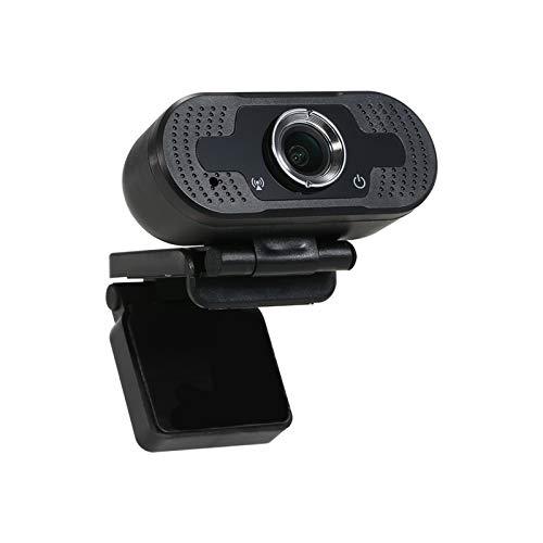 Lwieui Webcam 1080P HD-Webcam-Computer-Kamera 2 Megapixel-manuelle Fokus Mit Mikrofon zum Telekommunikation (Farbe : Black, Size : 1080P)