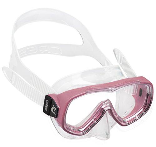 Cressi Jungen Piumetta Kid Mask Tauchmasken, Clear/Pink, 3-7 Jahre